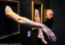 the human gallery living tattoo exhibit